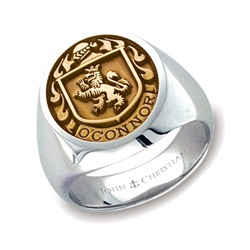 Man's Family Crest Ring - 14K Yellow & PūrLuxium™