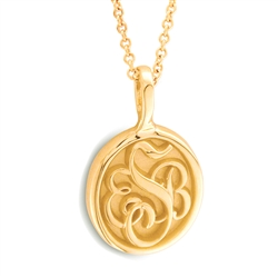Monogram Pendant - 14K Yellow or White