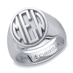 Lady's Sutton Monogram Ring - Platinum