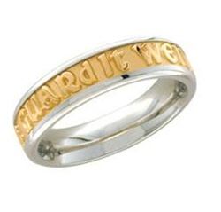 Medium Two-Tone Posey™ Ring - 14K & PūrLuxium™