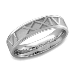 Roman Numeral Ring Medium Platinum