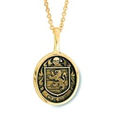 Family Crest Pendant 14k Yellow Or White